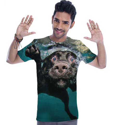 Swim Dog Full Print T Shirt (Mens)-Geeks Buy Gadgets