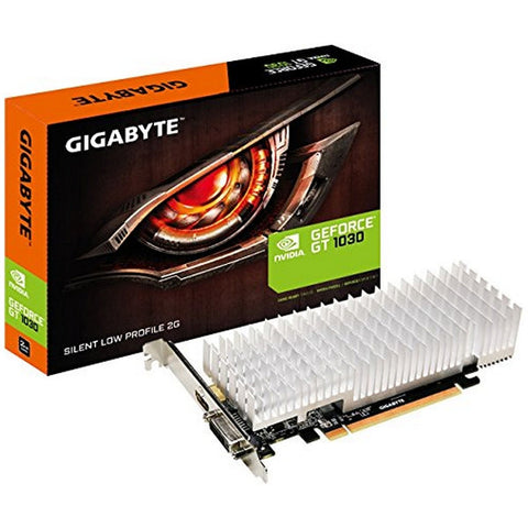 GRAPHICS CARD GIGABYTE VGA NVIDIA GT 1030 LP SILENT 2 GB DDR5-Geeks Buy Gadgets
