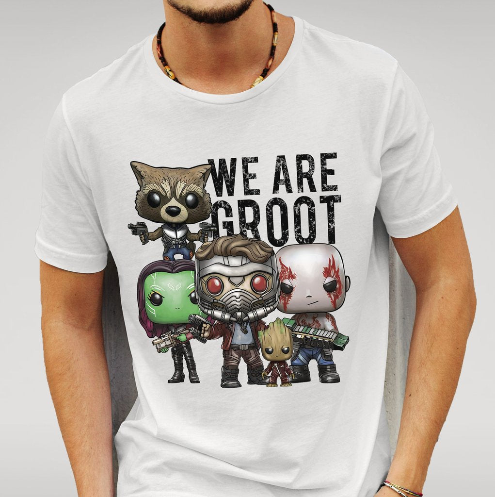 We are Groot - White Tshirt-Geeks Buy Gadgets