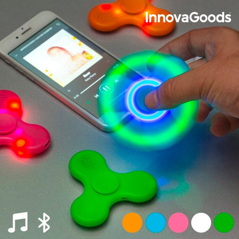 INNOVAGOODS LED SPINNER WITH SPEAKER AND BLUETOOTH-Geeks Buy Gadgets