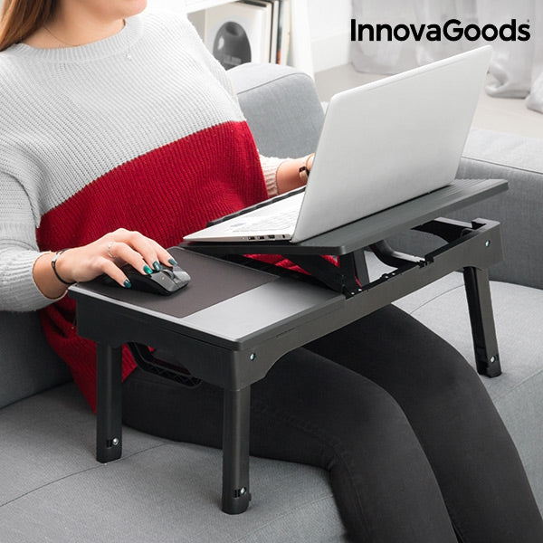 INNOVAGOODS PORTABLE TABLE WITH LED-Geeks Buy Gadgets