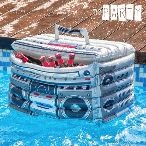 RADIO RETRO TH3 PARTY INFLATABLE COOLER-Geeks Buy Gadgets
