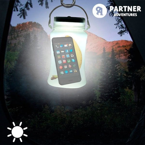 ARTNER ADVENTURES SILICONE SOLAR LED BOTTLE-Geeks Buy Gadgets