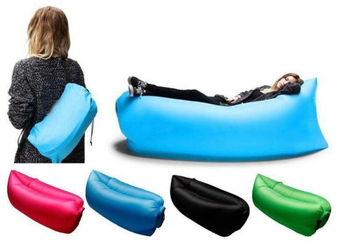 Fast Inflatable Lounger Air Sleep Camping Sofa-Geeks Buy Gadgets