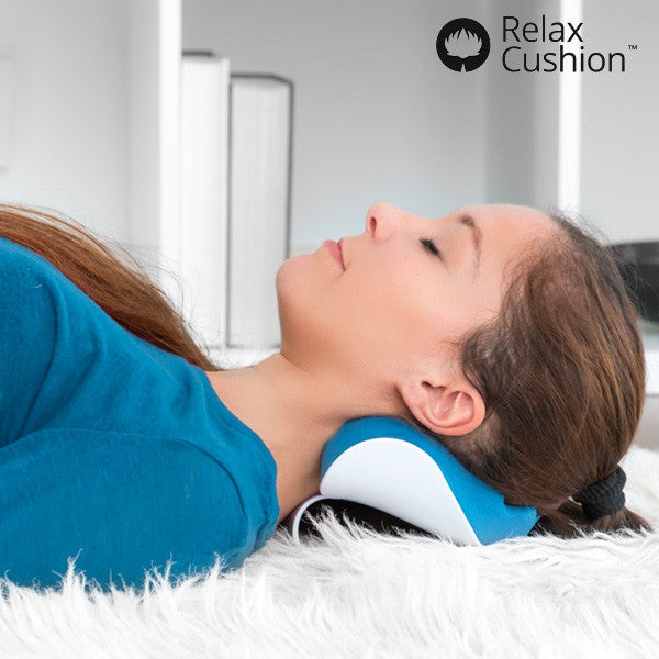 RELAX CUSHION CERVICAL SUPPORT WITH ANTI-STRESS PILLOW-Geeks Buy Gadgets