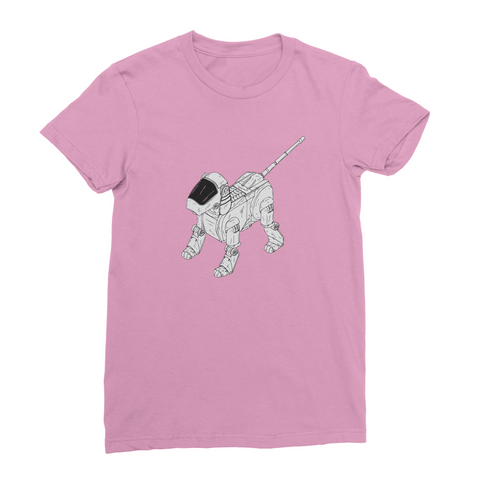 T-Shirt - Robot Dog (Women's)-Geeks Buy Gadgets