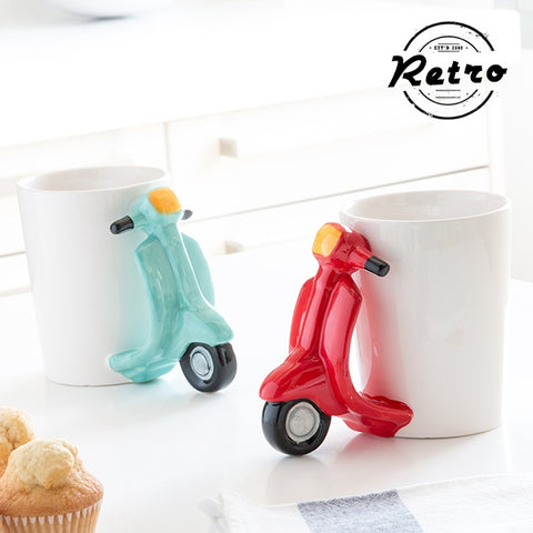 RETRO SCOOTER MUG-Geeks Buy Gadgets