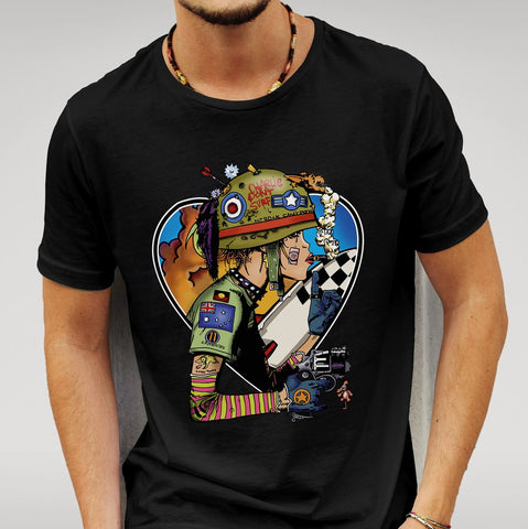 We Love Tank Girl Black T-shirt-Geeks Buy Gadgets