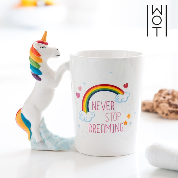 WAGON TREND NEVER STOP DREAMING UNICORN MUG-Geeks Buy Gadgets