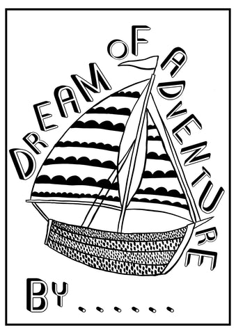 Dream of Adventure Colouring Sheet