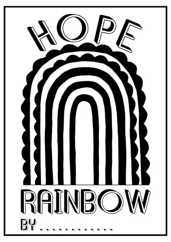 Hope Rainbow Colouring Sheet
