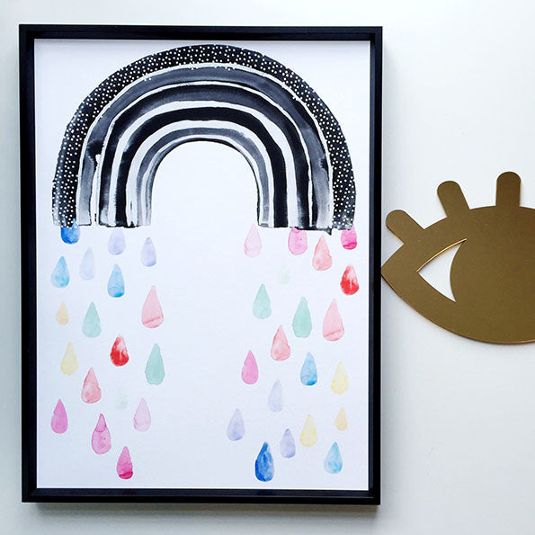 Rainbow Rain Children's Print