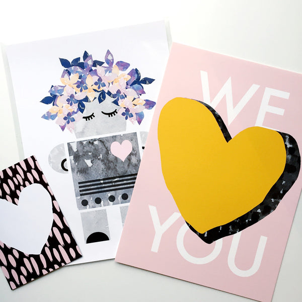 We Love You Pink Contemporary Print