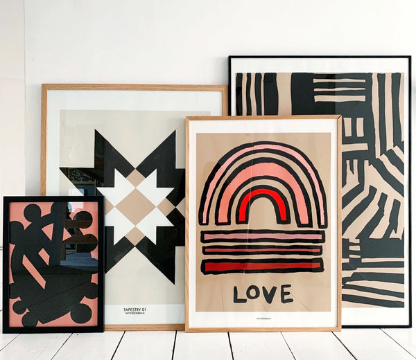 LOVE Abstract Print