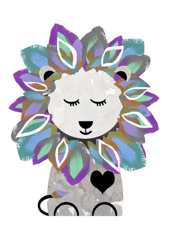 Leo the Lion Children's Print