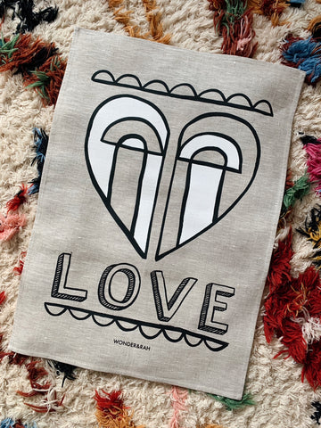 SECONDS Love Linen Print - OFF CENTRE