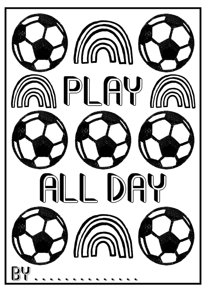 Play All Day Colouring Sheet