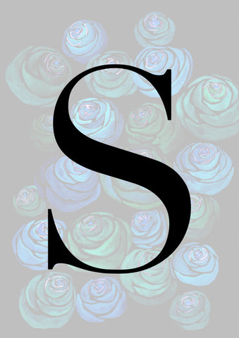 Faded Peonie Personalised Initial