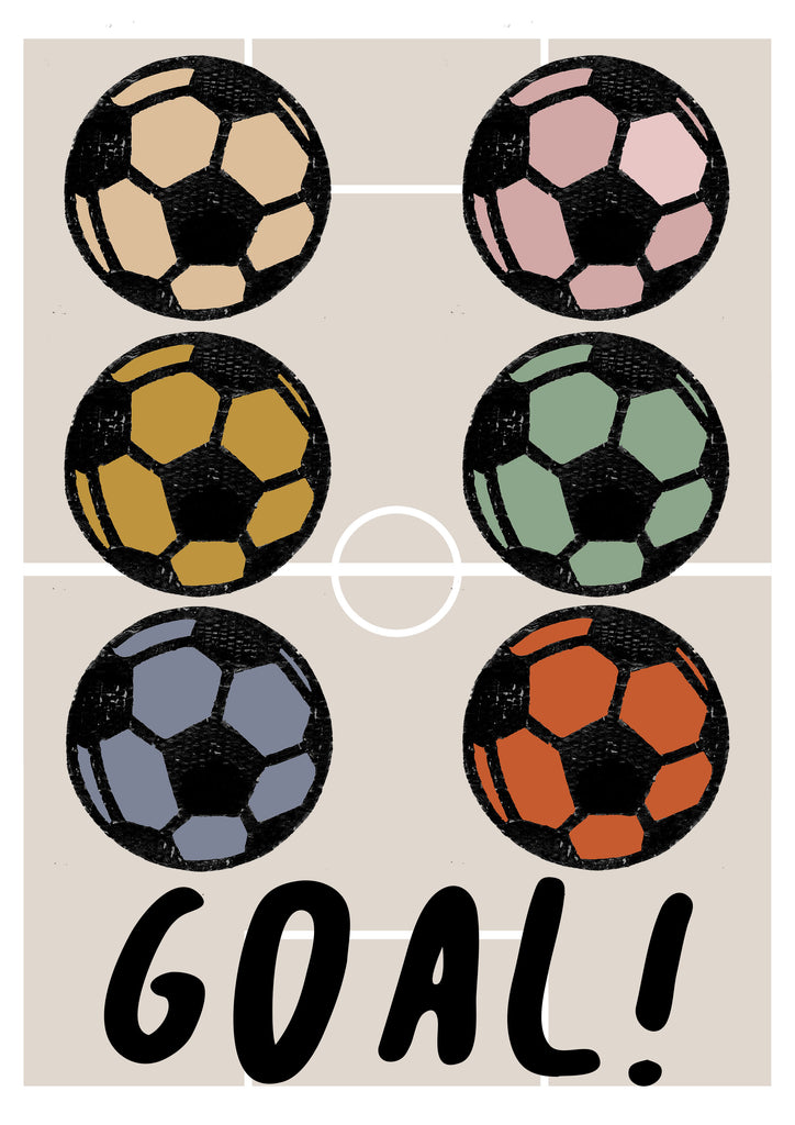 GOAL! Multi Children's Print