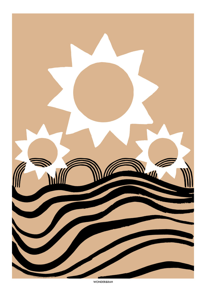 SOLEIL Abstract Print
