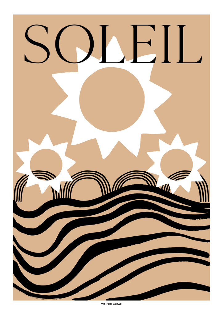 SOLEIL (text) Abstract Print