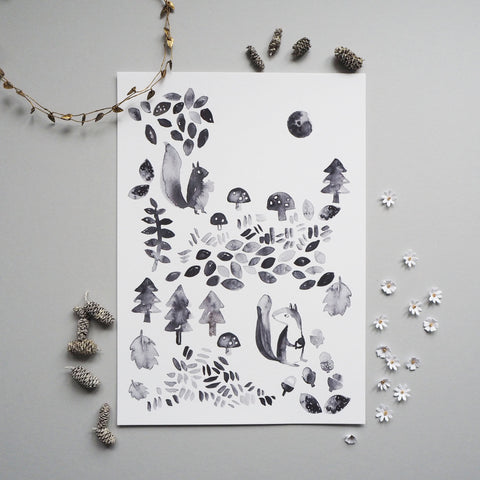 Woodland Children's Print