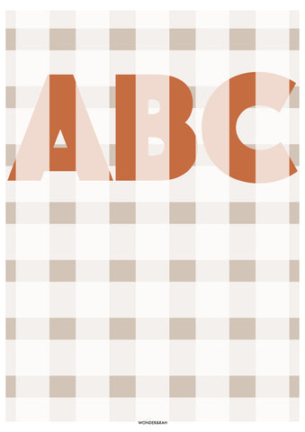 Personalised Gingham Print Colour Option 3