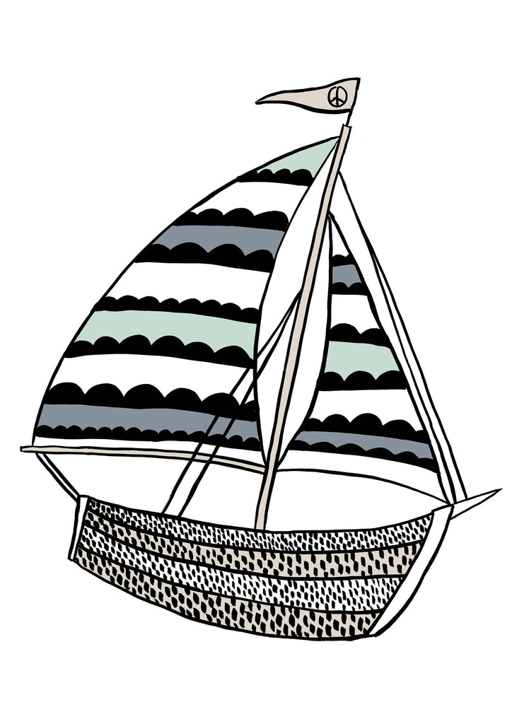 Sailing Blue Children's Print