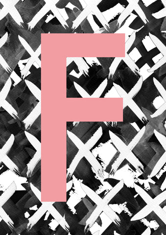 Criss Cross Personalised Initial Pink