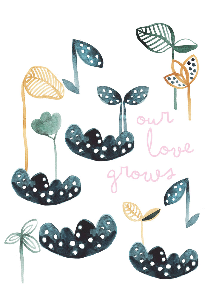 Our Love Grows Seedlings Children's Print