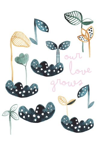 Our Love Grows Children's Print