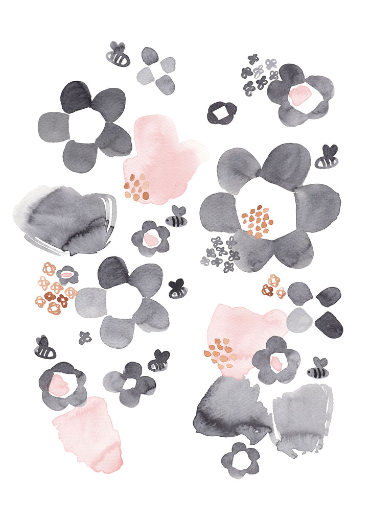Watercolour Floral Children's Print