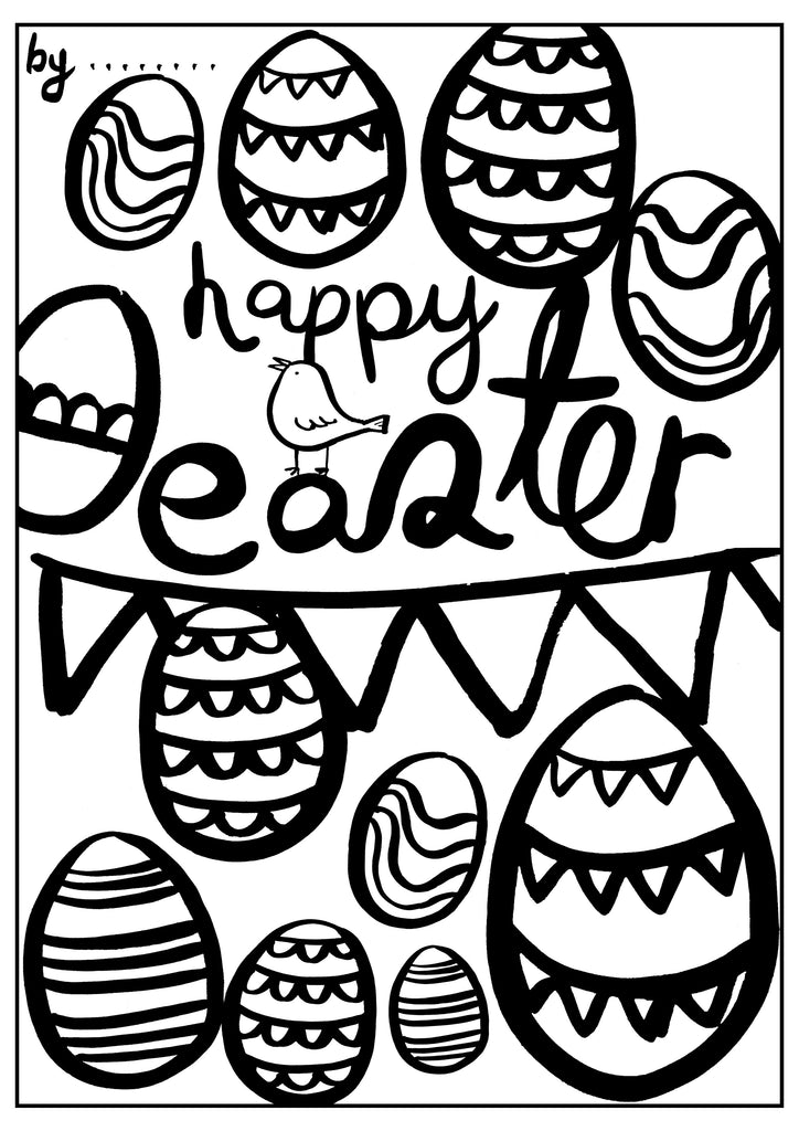 Easter Colouring Sheet - Happy Easter