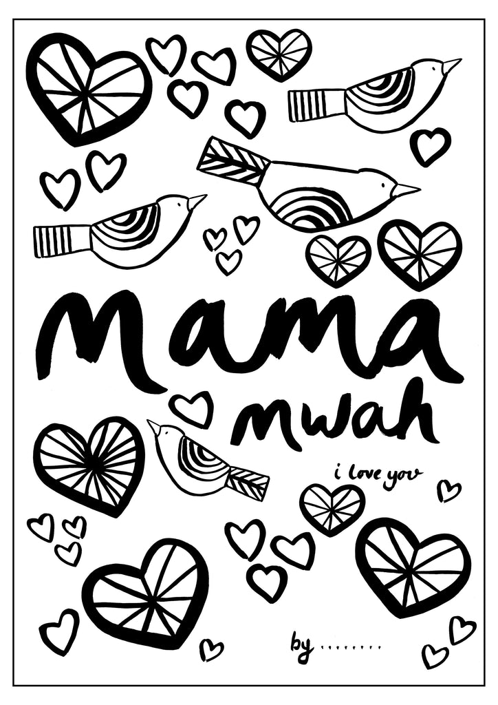 Mama Mwah! Colouring