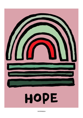 HOPE Abstract Print