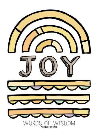 JOY in Pastels Children's Print