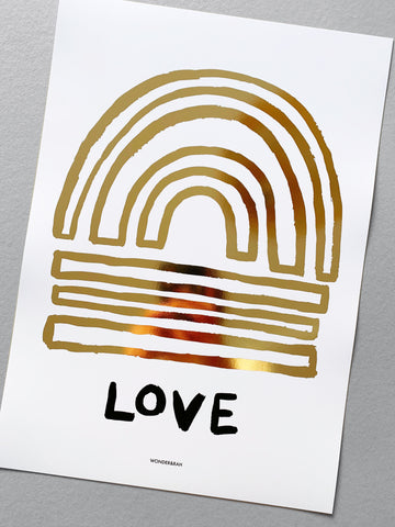 Gold Foil Love Print **limited stock