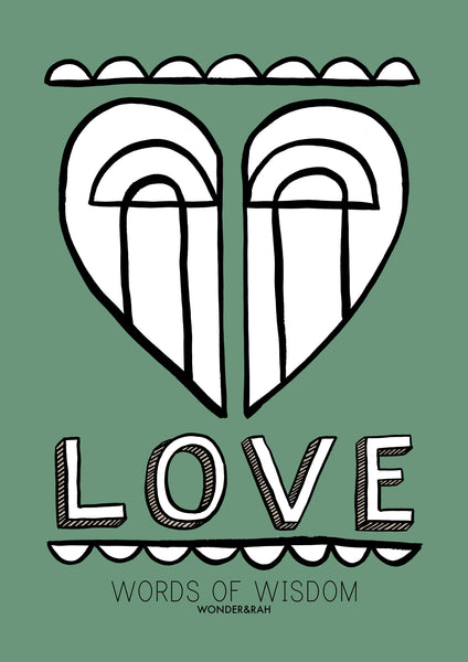 LOVE in Bespoke Colour Children's Print