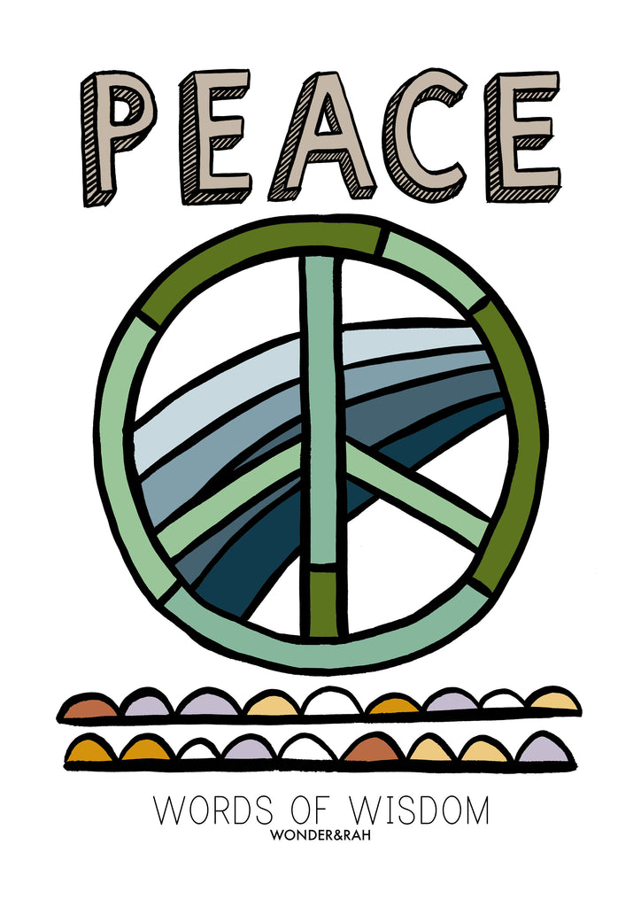 PEACE in Brights Children's Print