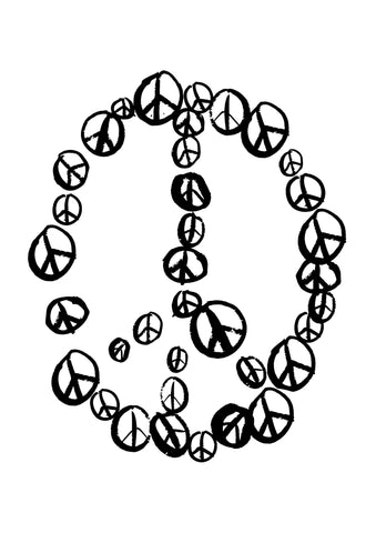 Peace Black & White Contemporary Print