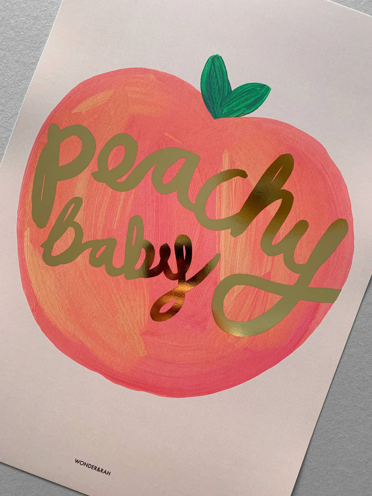 Gold Foil Peachy Children's Print **limited stock