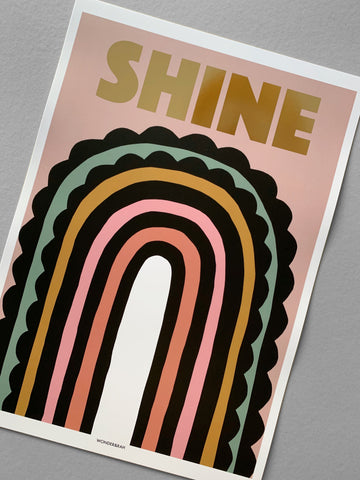 Gold Foil Shine Children's Print **limited stock