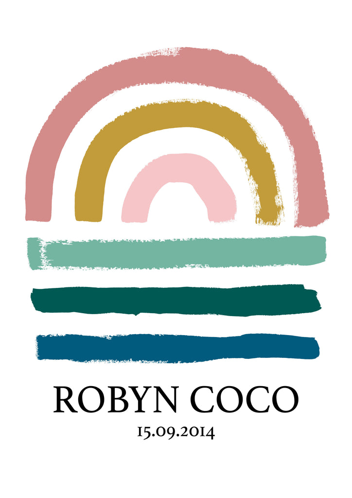 Personalised Rainbow Print Colour Option 1