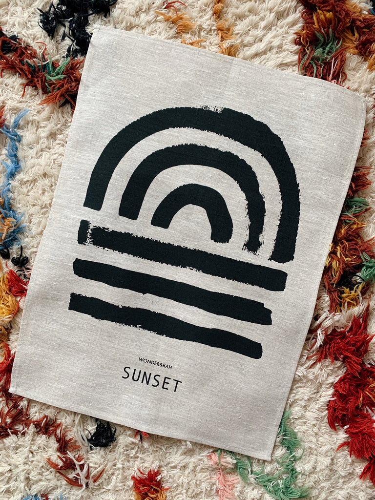 SECONDS Sunset Linen Print - 2cm SHORTER