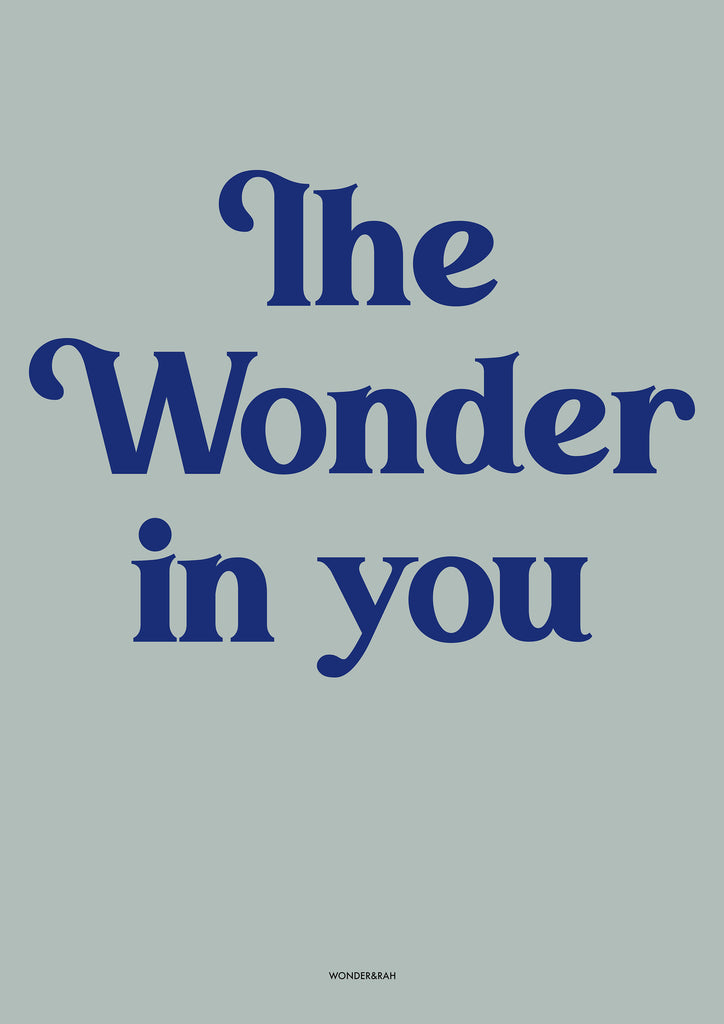 The Wonder in you Children's Print - Blues