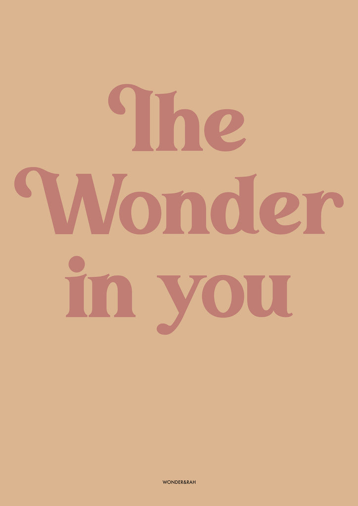 The Wonder in you Children's Print - Tan