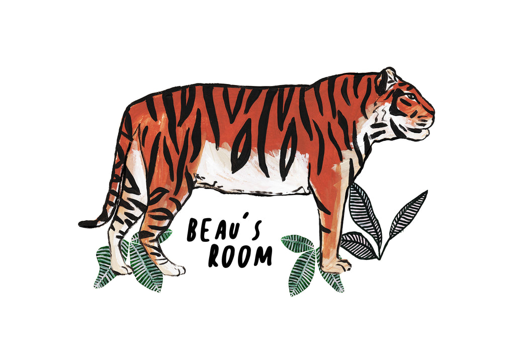 Personalised TIGER Jungle Print