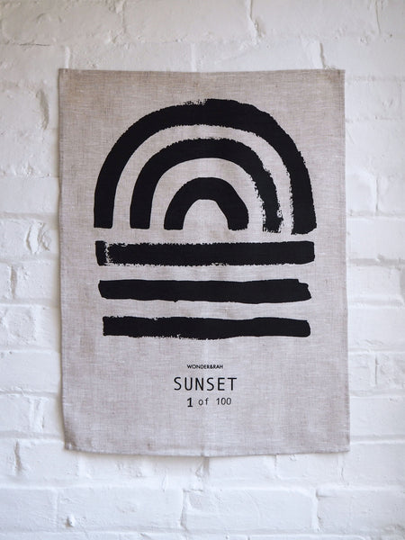 LIMITED EDITION Sunset Linen Print (Black on Light)