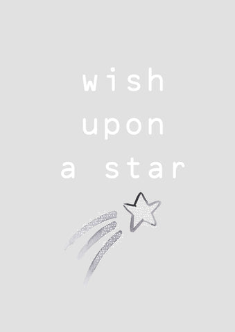 Wish Upon a Star Grey Children's Print