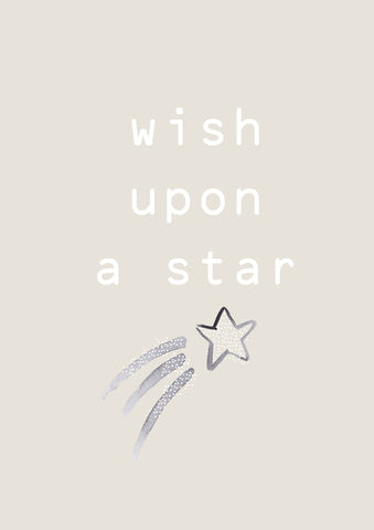 Wish Upon a Star Natural Children's Print